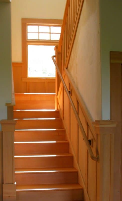 Stairwell with Custom Woodwork