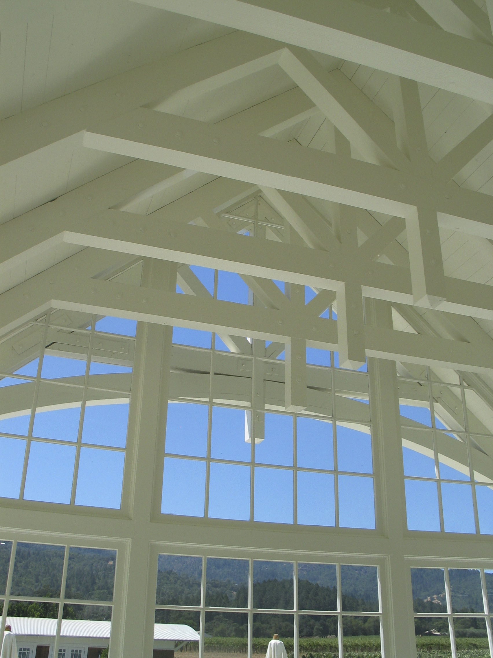Vaulted open truss ceiling clyde construction inc for Vaulted ceiling trusses
