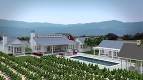 New custom vineyard farmhouse for sale in St. Helena
