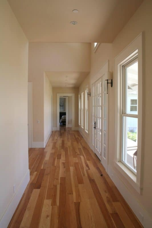 interior hallway with wood floor