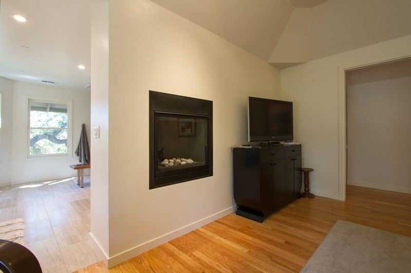 bedroom fireplace wall